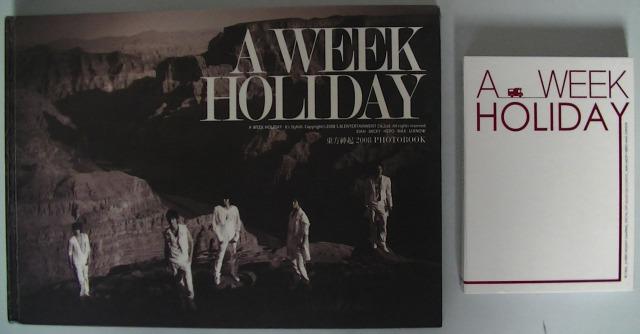 東方神起メンバーのソロショットが多い『A WEEK HOLIDAY』は『It's Stylish』と『CAMPING』の2種類あり!ユチョン様のかっこよさが際立っていてユチョンペン様おススメです♪